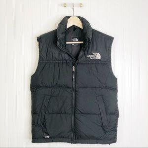 Black north face puffer vest S